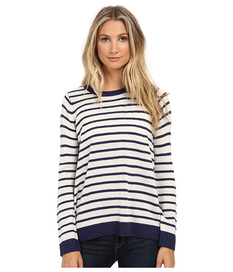 Jack by BB Dakota - Kath Acrylic Striped Split Back Sweater (White Sand) Women