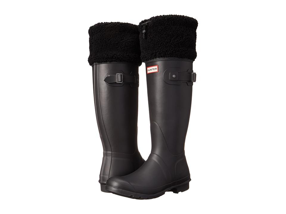 Hunter - Original Shearling Cuff (Black) Women's Pull-on Boots