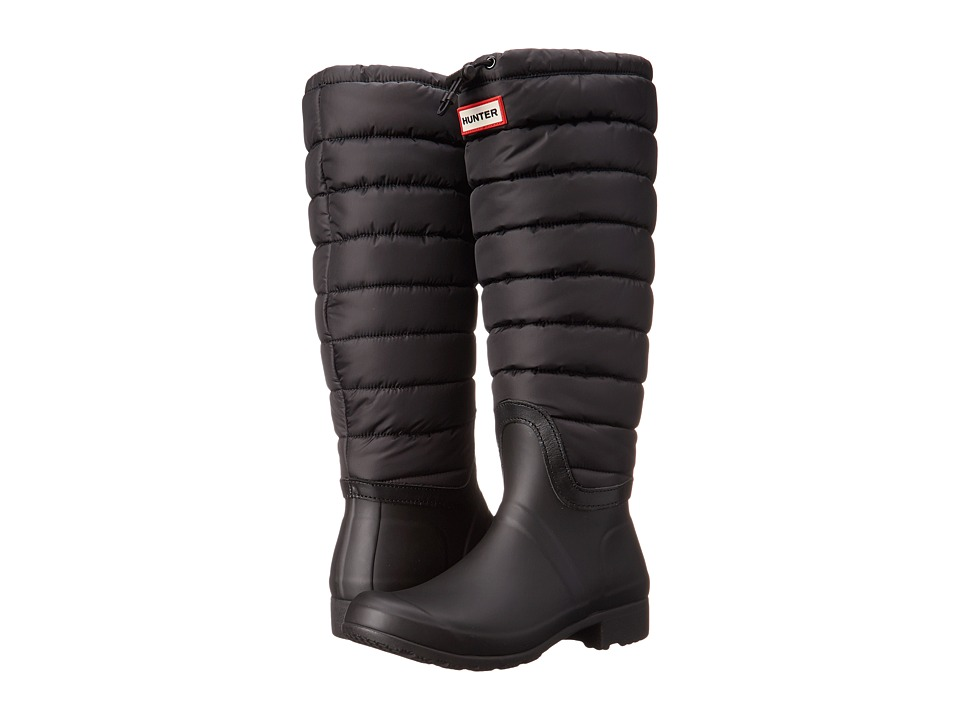 Hunter - Original Quilted Leg (Black) Women's Pull-on Boots