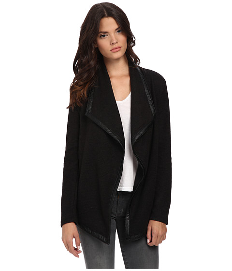Jack by BB Dakota - Glory Heavy Weight French Terry Jacket w/ PU Trim (Black) Women's Coat