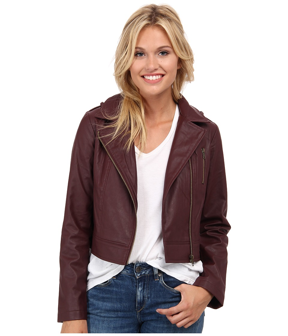 Jack by BB Dakota - Berger Tumbled PU Jacket (Dark Berry) Women's Coat
