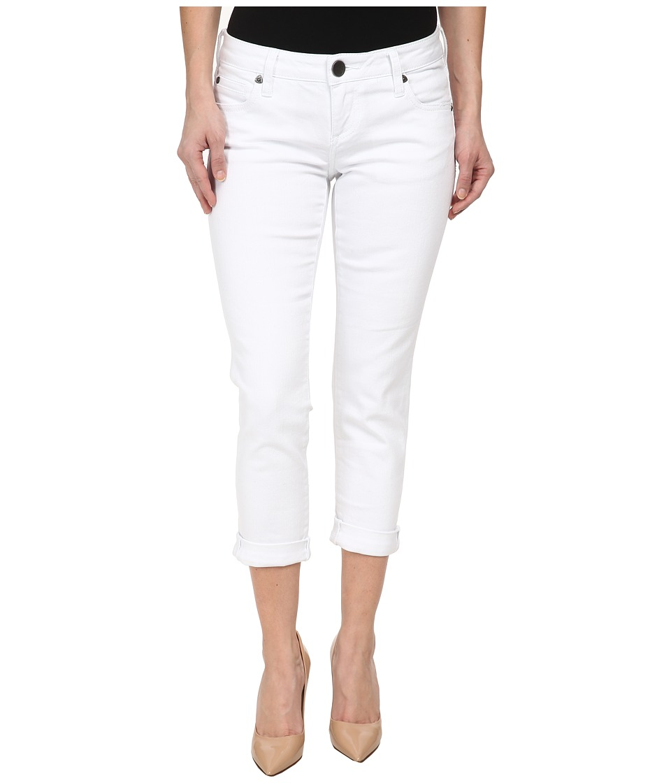 KUT from the Kloth - Petite Catherine Boyfriend in White (White) Women's Jeans