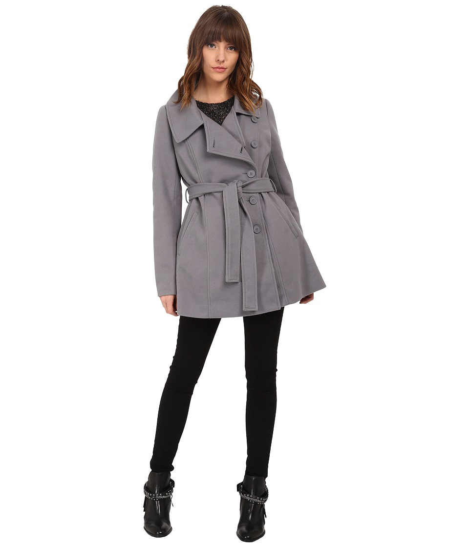 Jack by BB Dakota - Cree Plush Melton Coat (Charcoal Grey) Women's Coat