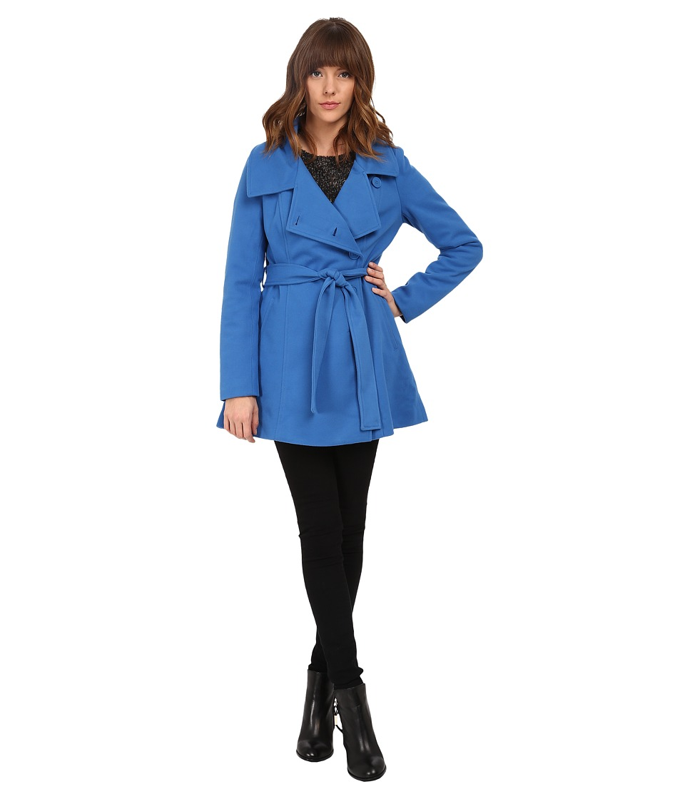 Jack by BB Dakota - Cree Plush Melton Coat (Strong Blue) Women's Coat