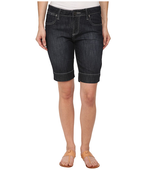 KUT from the Kloth - Petite Natalie Bermuda in Direct/Dark Stone Base Wash (Direct/Dark Stone Base Wash) Women's Shorts