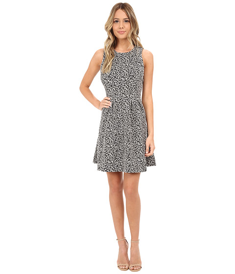 Jack by BB Dakota - Poet Animal Patterned Jacquard Knit Dress (Dark Charcoal) Women's Dress
