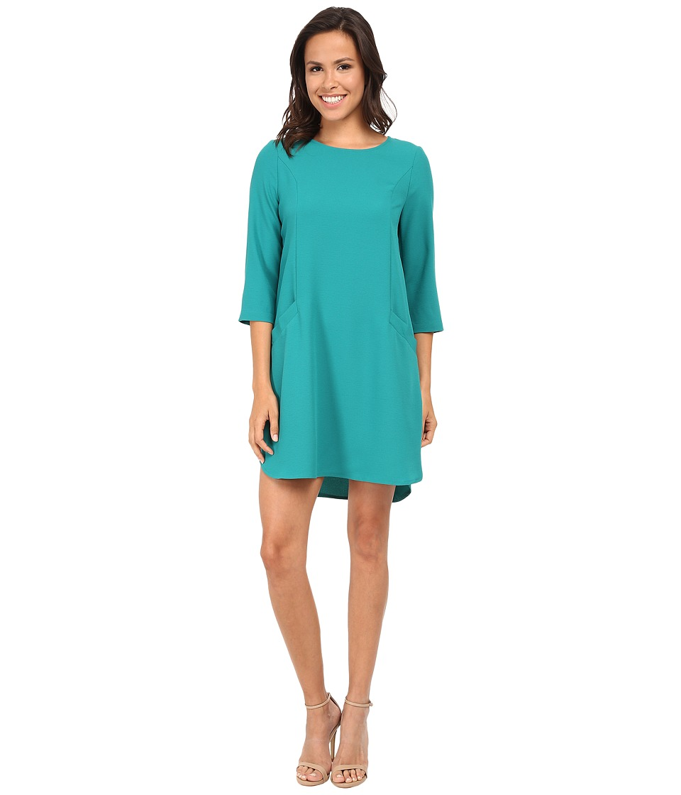 Jack by BB Dakota - Dee Heavy Crepe Shift Dress (Deep Teal) Women's Dress