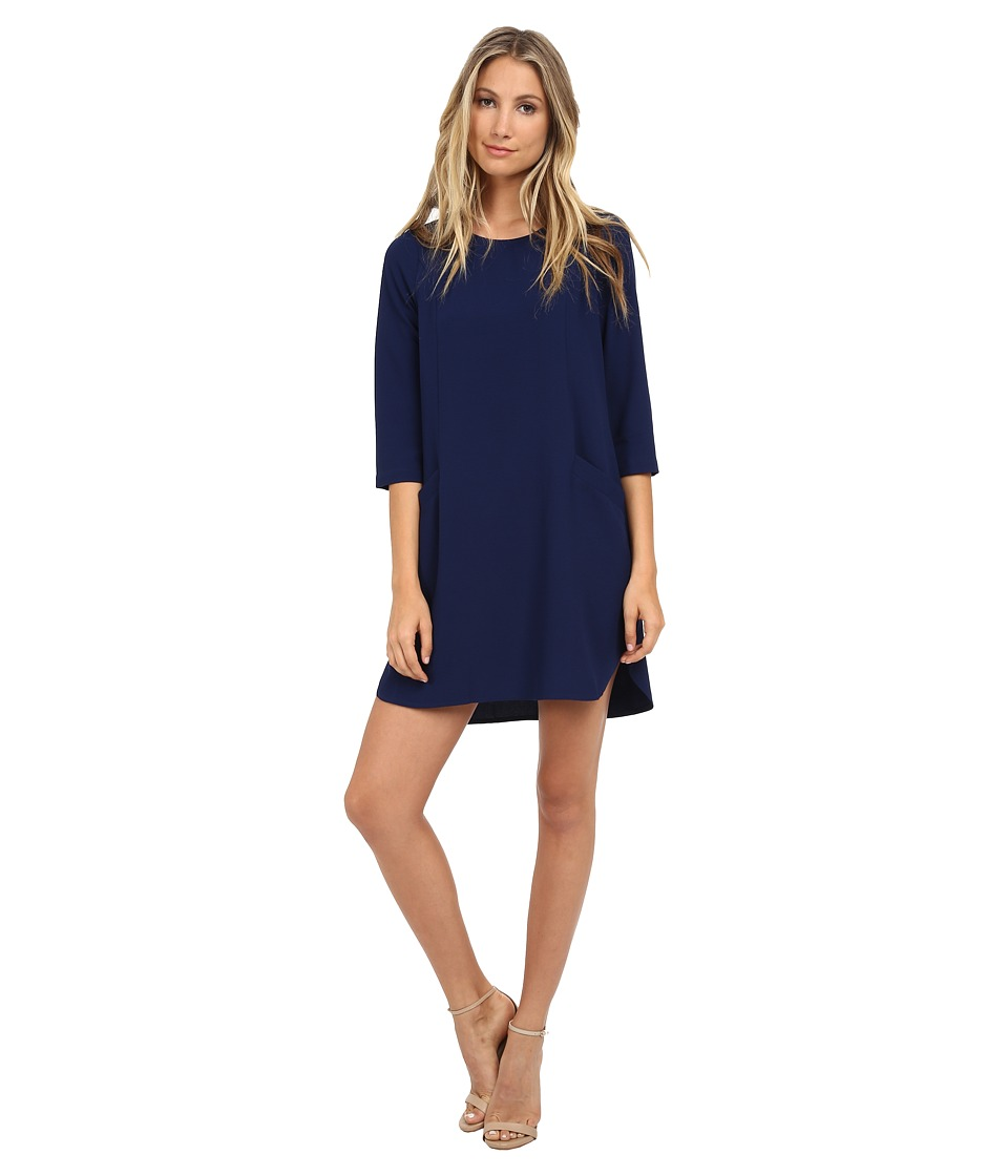Jack by BB Dakota - Dee Heavy Crepe Shift Dress (Navy) Women's Dress