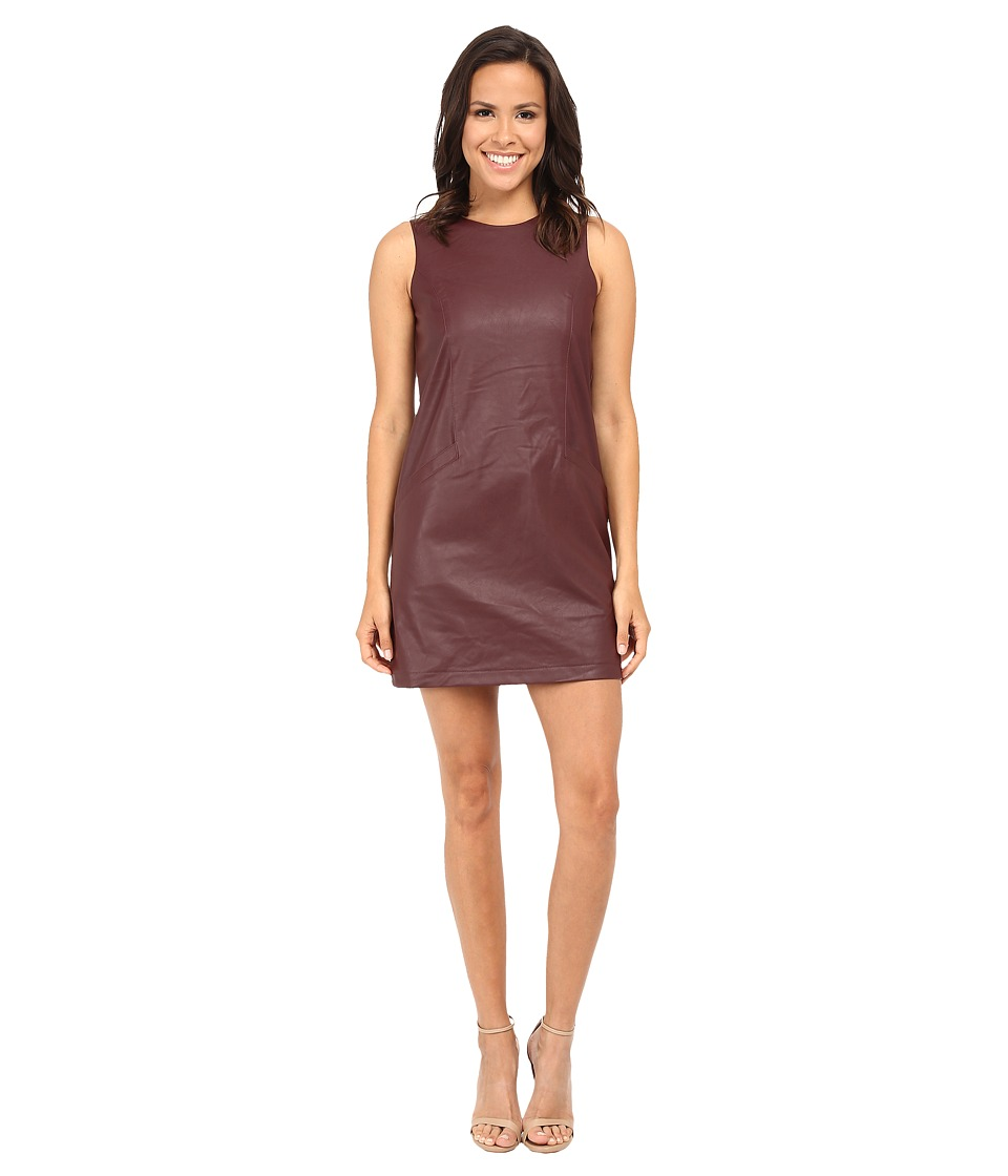 Jack by BB Dakota - Orsino PU Shift Dress (Dark Berry) Women