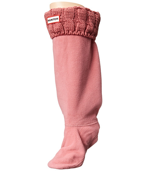 Hunter - 6 Stitch Cable Boot Sock (Rhodonite Pink) Women's Crew Cut Socks Shoes