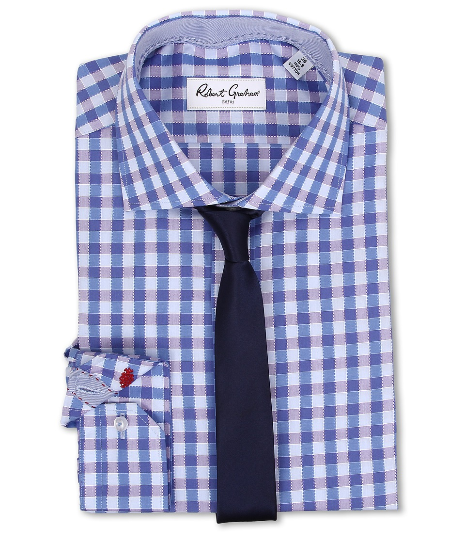 Robert Graham - Silvester Dress Shirt (Blue) Men's Clothing