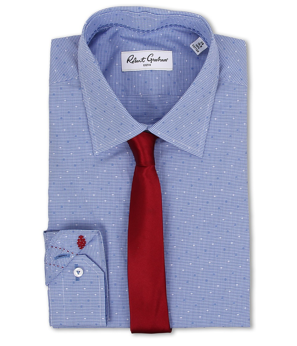 Robert Graham - Stan Dress Shirt (Blue) Men's Long Sleeve Button Up