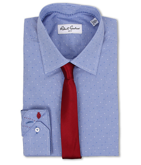 Robert Graham - Stan Dress Shirt (Blue) Men's Clothing