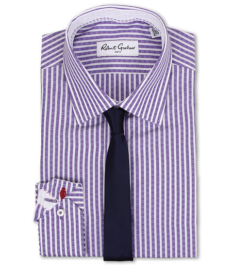 Robert Graham - Sebastian Dress Shirt (Purple) Men's Long Sleeve Button Up