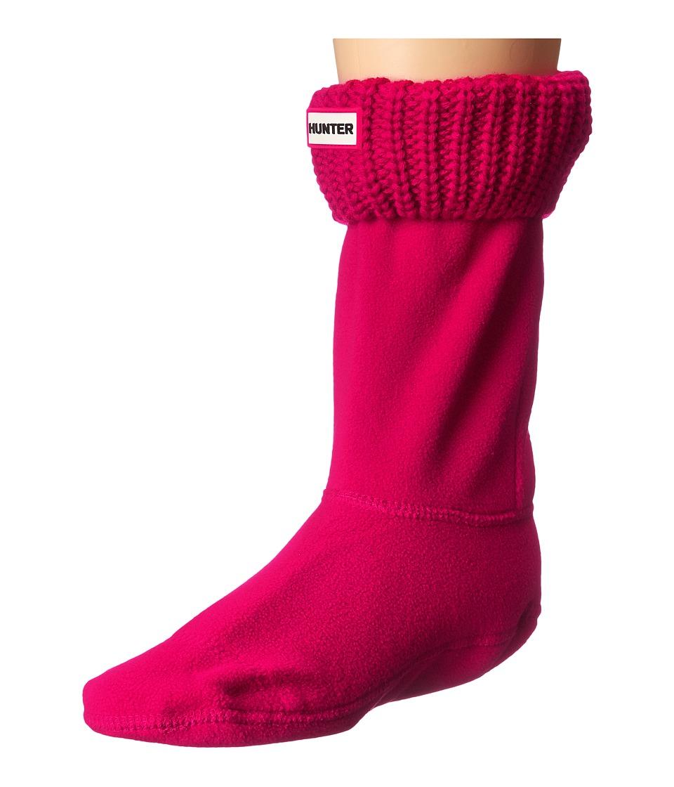 Hunter - Half Cardigan Boot Sock - Short (Red) Women's Crew Cut Socks Shoes
