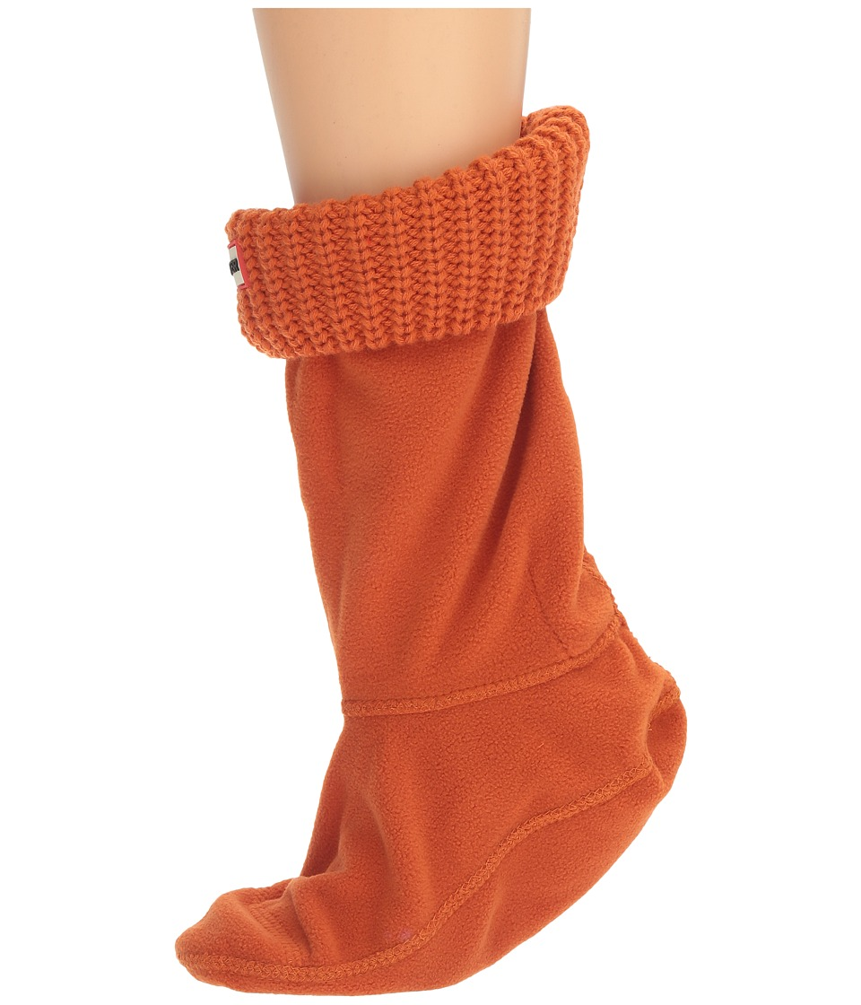 Hunter - Half Cardigan Boot Sock - Short (Madder Orange) Women's Crew Cut Socks Shoes