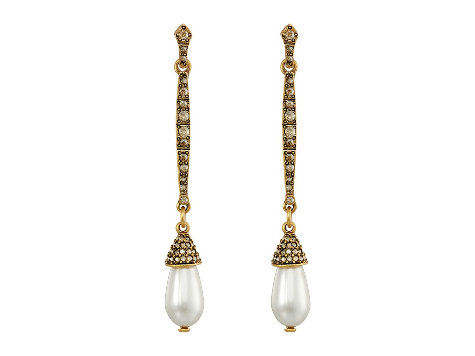 Oscar de la Renta - Pearl Earrings (Cry Gold Shadow) Earring