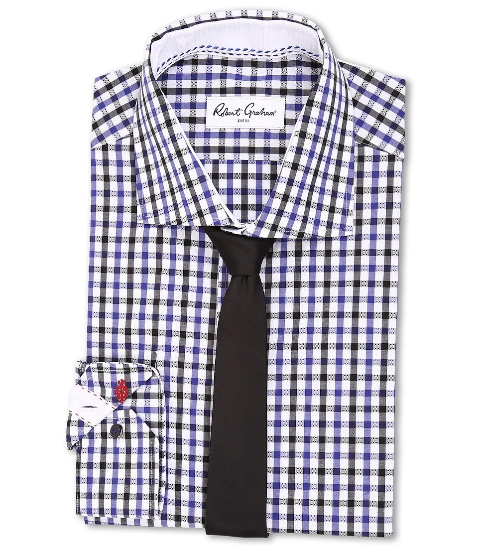 Robert Graham - Berlin Dress Shirt (Navy) Men's Long Sleeve Button Up