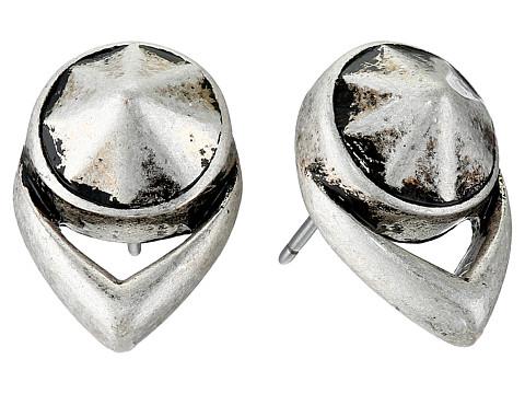Vince Camuto - Stone Stud Earrings (Oxidized Silver) Earring