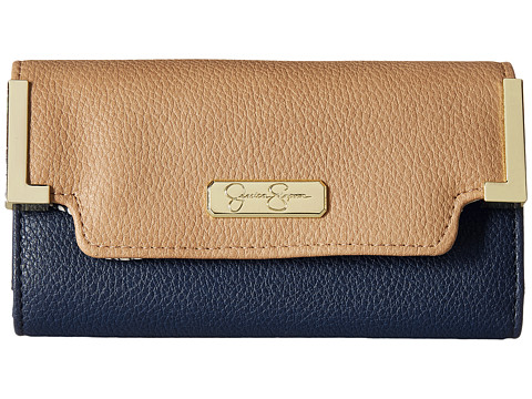 Jessica Simpson - Frances Medium Flap (Slate Indigo/Sand) Handbags