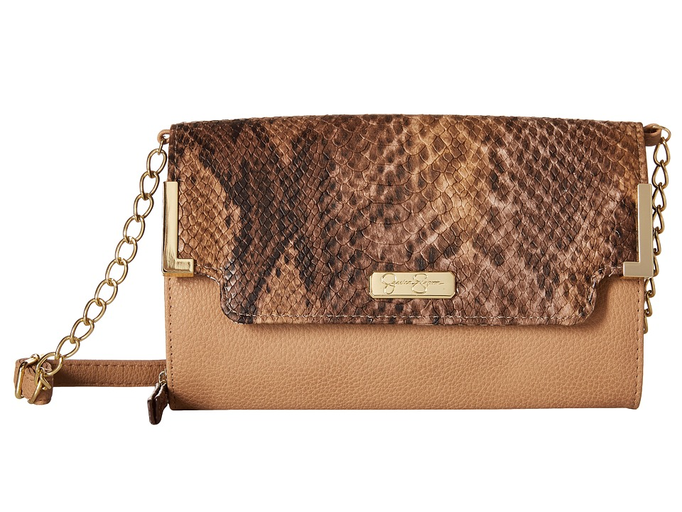 Jessica Simpson - Frances Wallet Crossbody (Sand/Whisky/Python) Cross Body Handbags