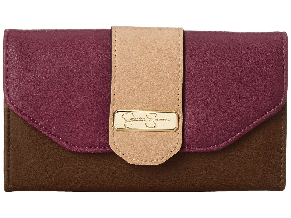 Jessica Simpson - Madelynn Medium Flap (Maroon/Henna/Sand) Handbags
