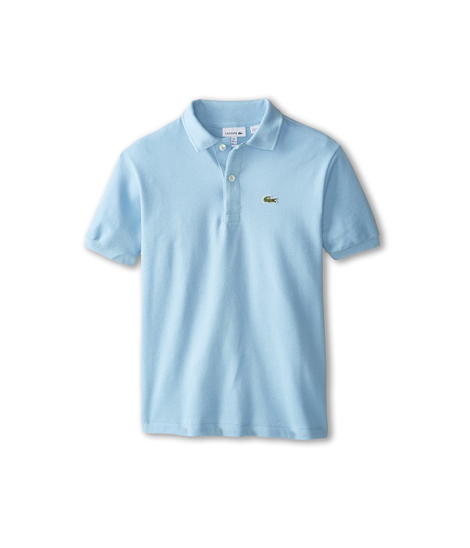 Lacoste Kids - Short Sleeve Classic Pique Polo (Infant/Toddler/Little Kids/Big Kids) (Hazy Blue) Boy's Short Sleeve Pullover