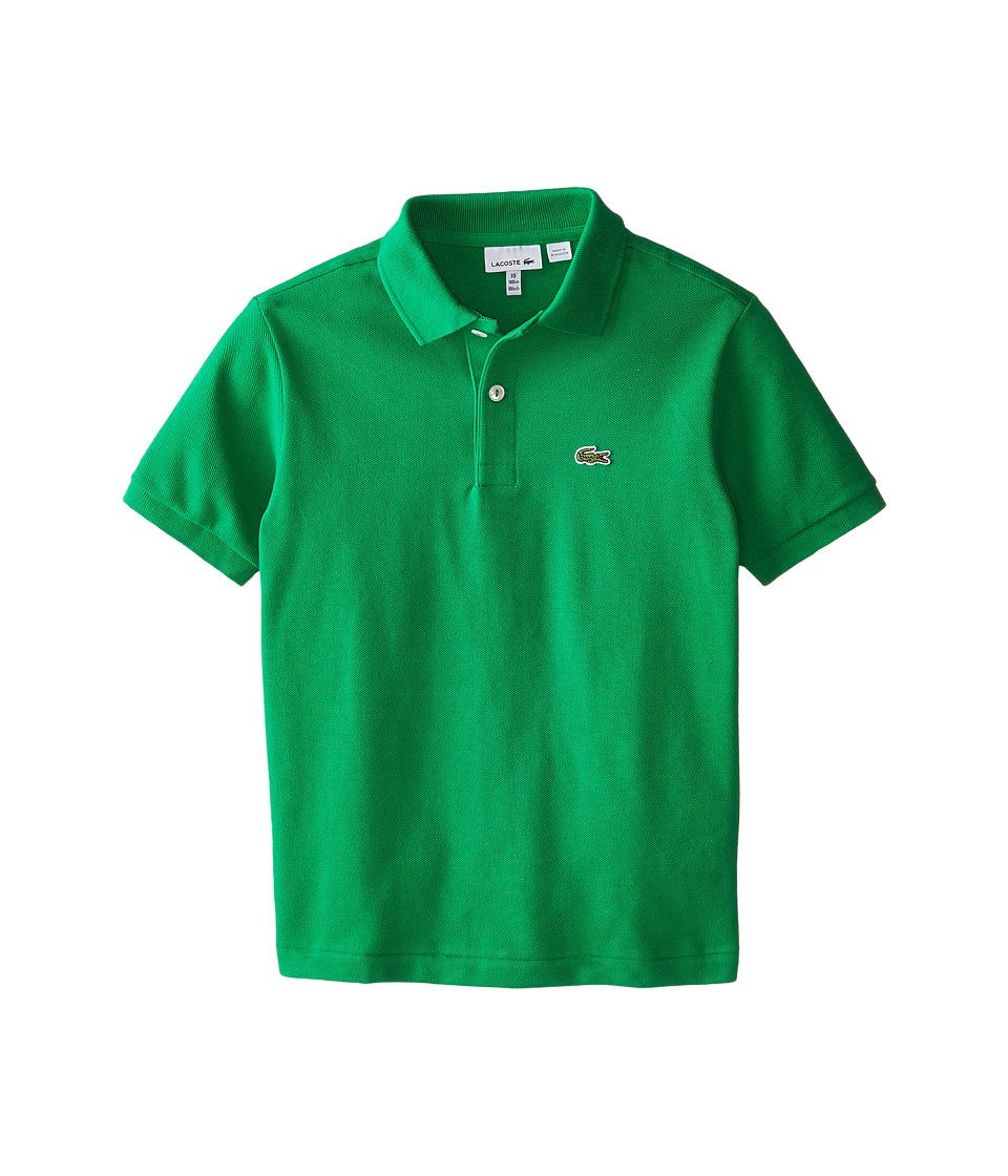 Lacoste Kids - Short Sleeve Classic Pique Polo (Infant/Toddler/Little Kids/Big Kids) (Chlorophyll Green) Boy's Short Sleeve Pullover