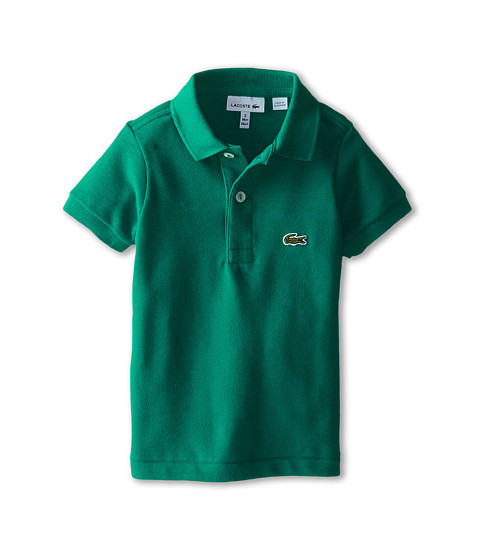 Lacoste Kids - Short Sleeve Classic Pique Polo (Infant/Toddler/Little Kids/Big Kids) (Emerald Green) Boy's Short Sleeve Pullover