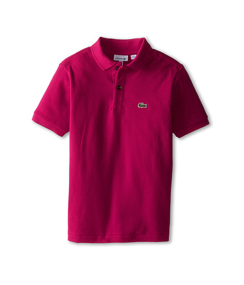 Lacoste Kids - Short Sleeve Classic Pique Polo (Infant/Toddler/Little Kids/Big Kids) (Fairground Pink) Boy's Short Sleeve Pullover