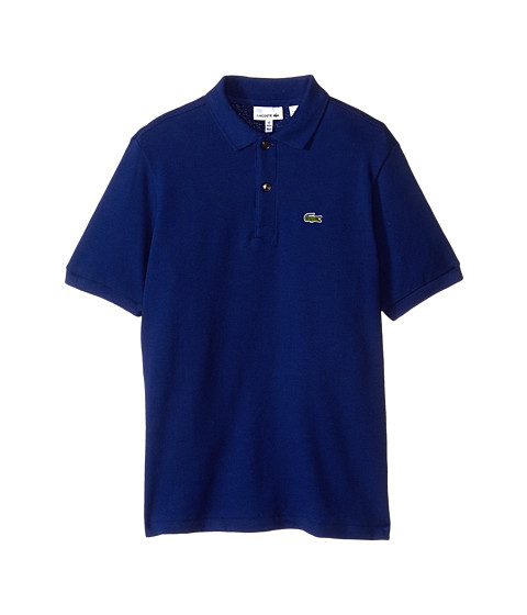 Lacoste Kids - Short Sleeve Classic Pique Polo (Infant/Toddler/Little Kids/Big Kids) (Varsity Blue) Boy's Short Sleeve Pullover