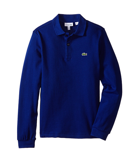 Lacoste Kids - Long Sleeve Classic Pique Polo Shirt (Toddler/Little Kids/Big Kids) (Varsity Blue) Boy's Long Sleeve Pullover