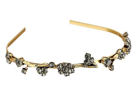 Oscar de la Renta - Crystal Branch Headband (Black Diamond) Headband