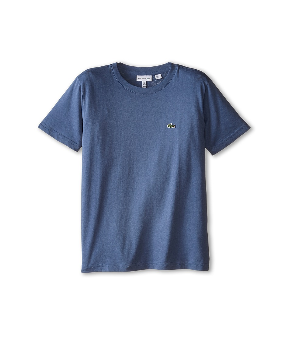 Lacoste Kids - S/S Classic Crewneck Jersey Tee (Toddler/Little Kids/Big Kids) (Platoon Blue) Boy