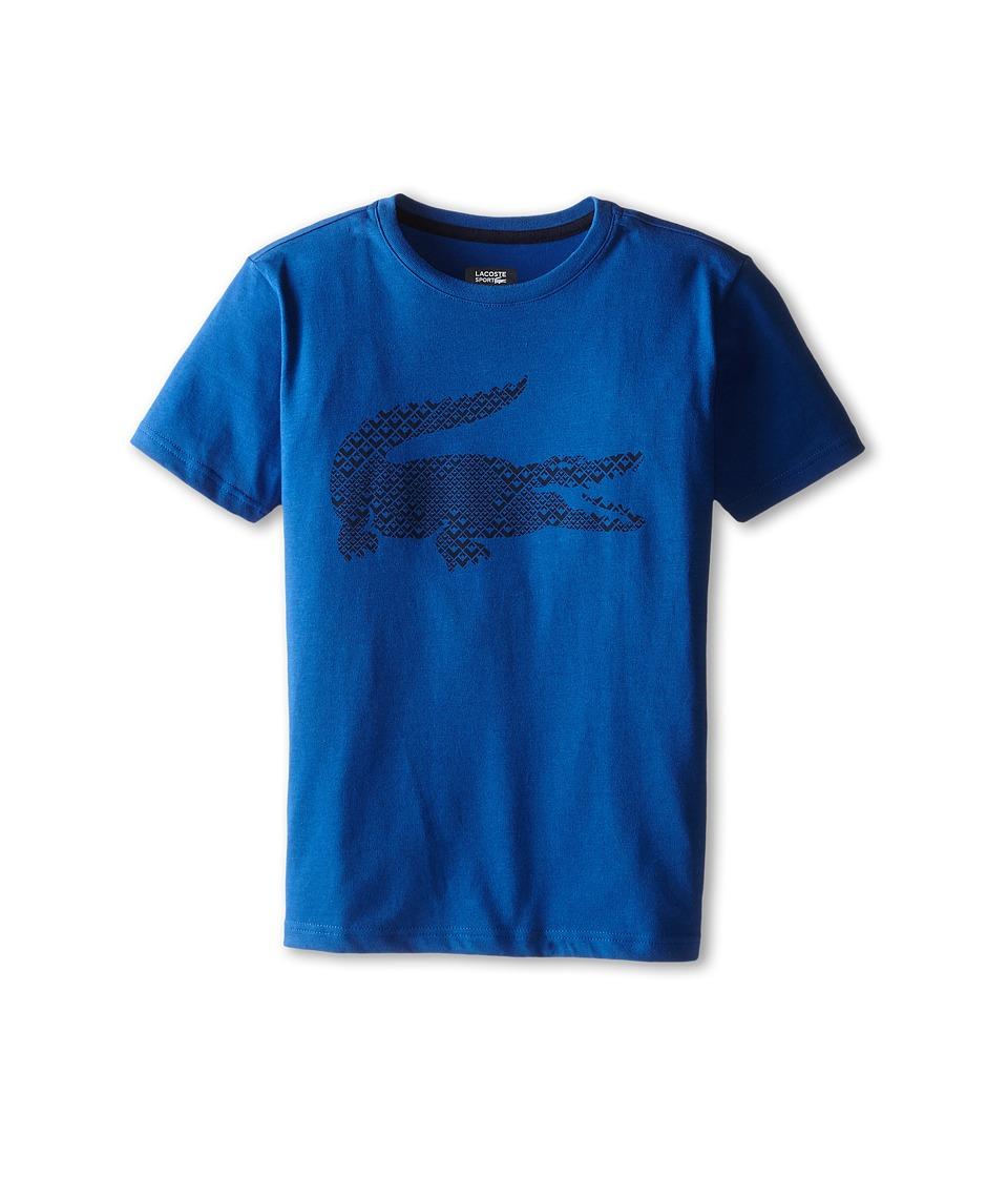 Lacoste Kids - Sport Cotton Poly Big Croc Tee Shirt (Toddler/Little Kids/Big Kids) (Monaco Blue/Navy Blue) Boy's T Shirt