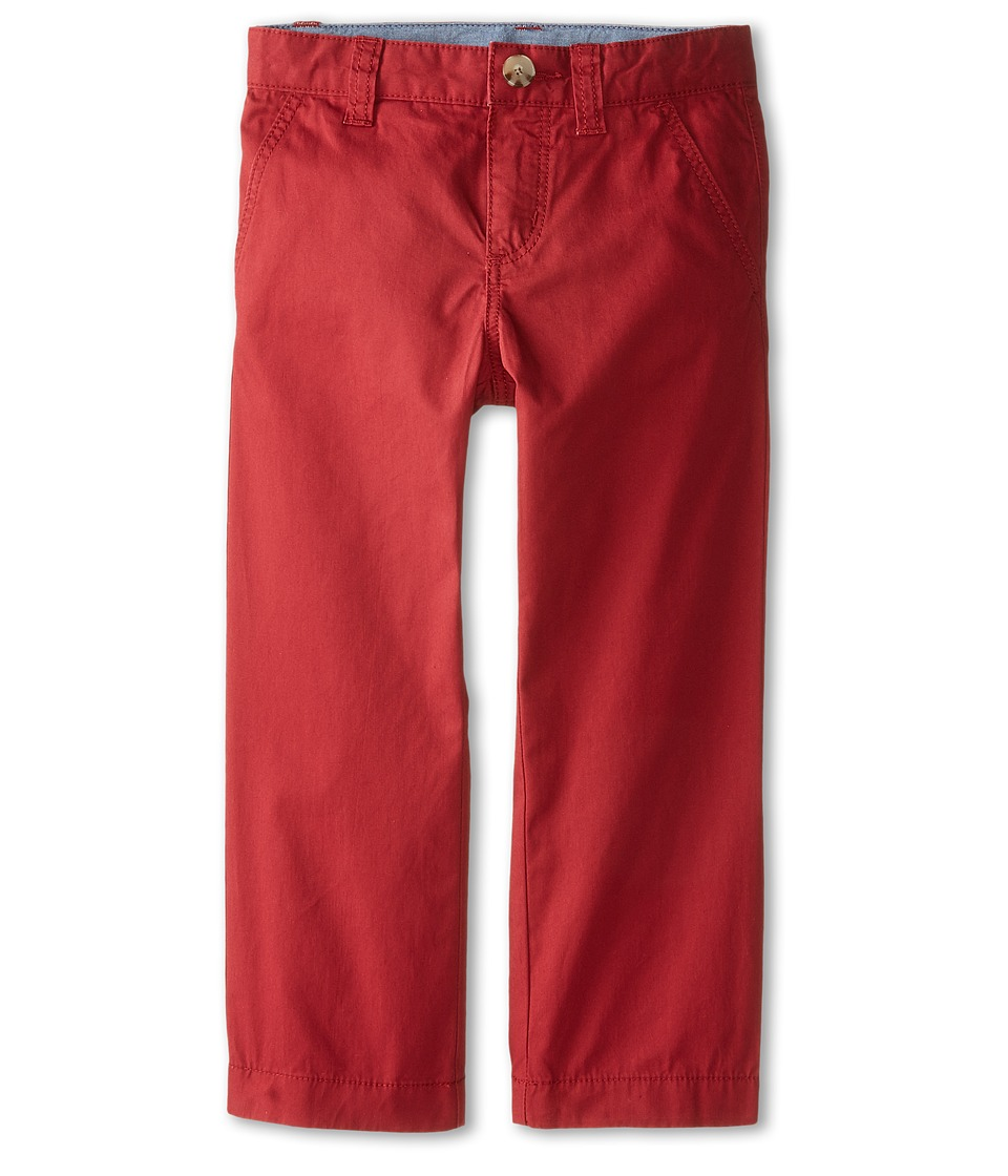 Lacoste Kids - Cotton Gabardine Flat Front Chino (Little Kids/Big Kids) (Tokyo Red) Boy