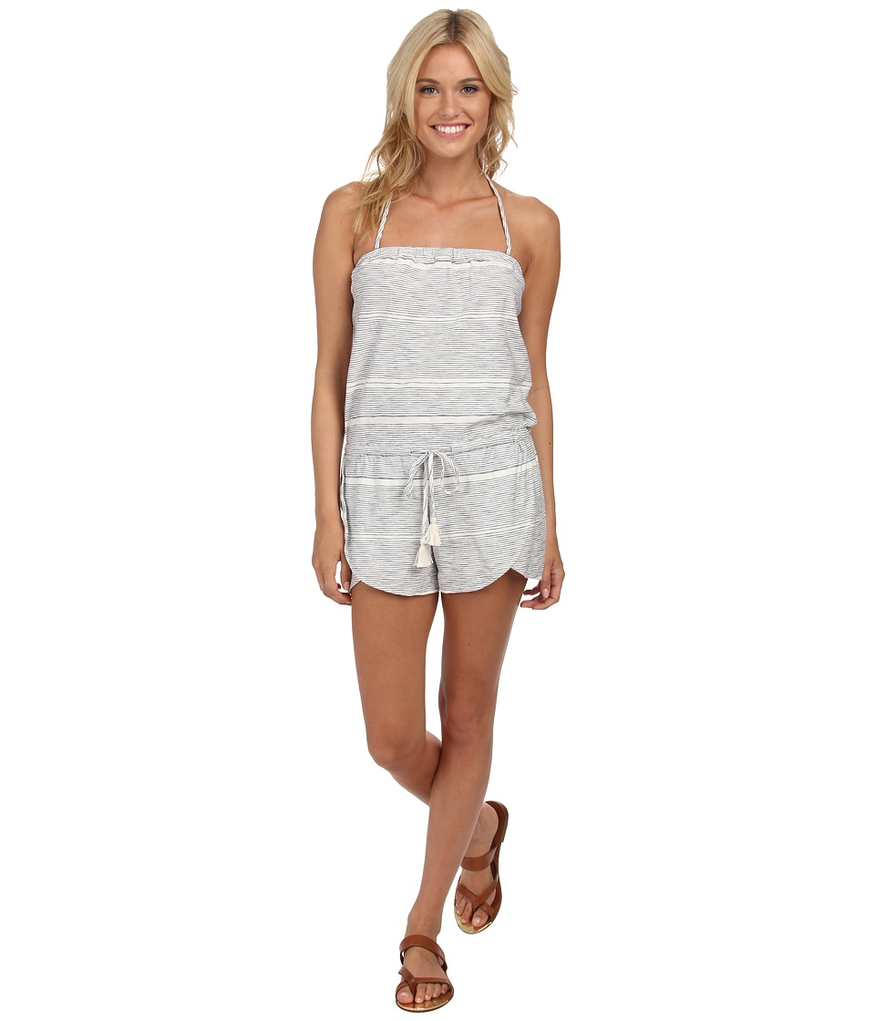 Roxy - Cape Canyon Halter Neck Romper (Island Stripe Patriot Blue) Women's Jumpsuit & Rompers One Piece