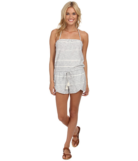 Roxy - Cape Canyon Halter Neck Romper (Island Stripe Patriot Blue) Women