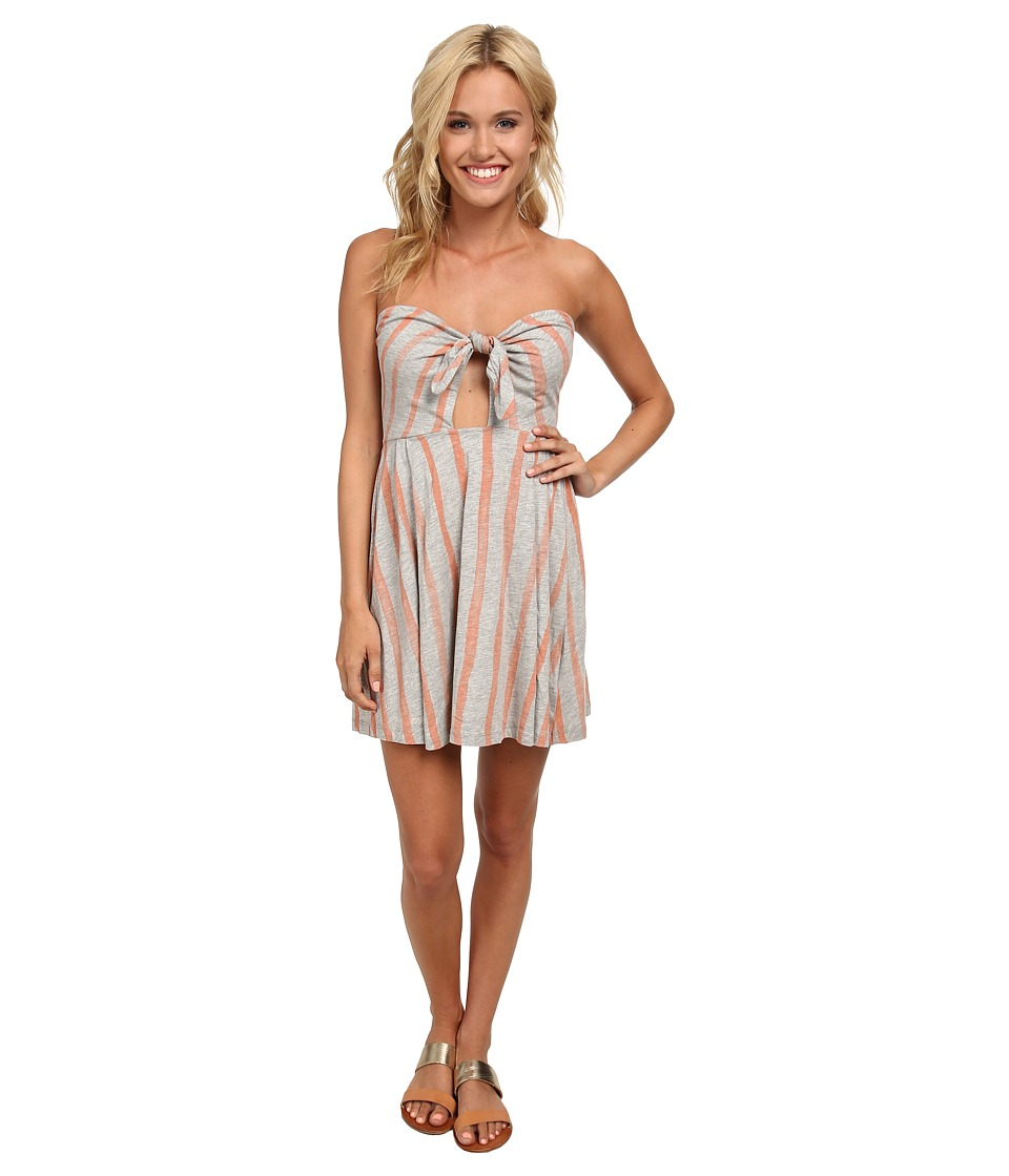 Roxy - Paradise Cove Knit Halter Dress (Melon Painted Stripe) Women