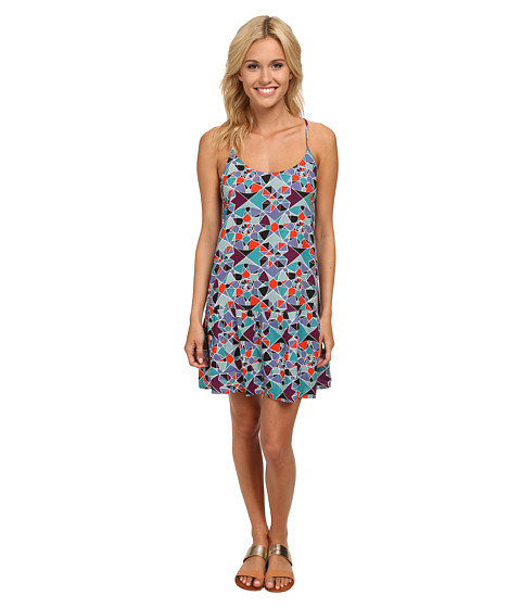 Roxy - Like It's Hot Dress (Light Denim Mosaic Mix Up) Women's Dress