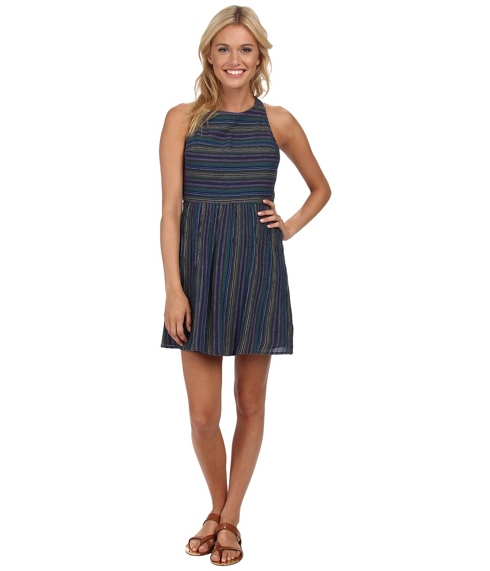 Roxy - Coast to Coast Dress (Astral Aura Surf Stripe) Women