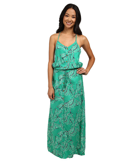 Roxy - Casino Point Maxi Dress (Mint Tribal Palm) Women's Dress