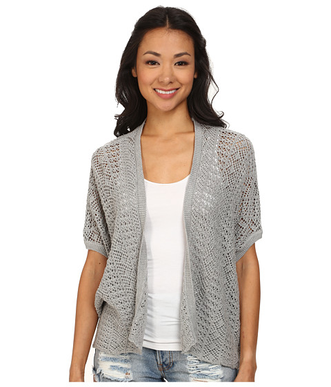 Roxy - Same Old Feeling Short Sleeve Open Cardigan (Heritage Heather) Women's Sweater