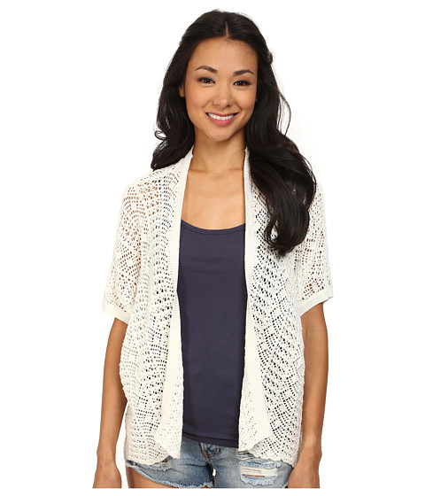 Roxy - Same Old Feeling Short Sleeve Open Cardigan (Sea Spray) Women