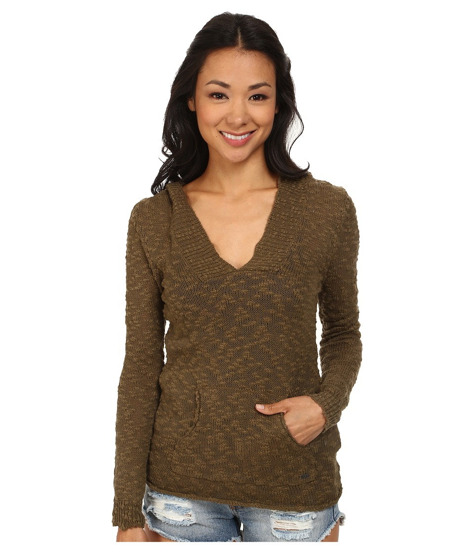 Roxy - Warm Heart Sweater (Military Olive) Women's Sweater