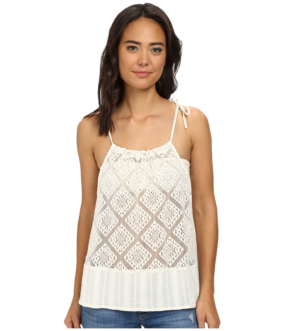 Roxy - Little Geiger Crochet Tank Top (Sea Spray) Women's Blouse