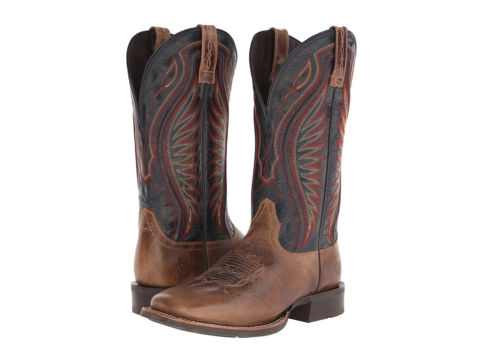 Ariat Rodeo Warrior (Shadow Brown/Silver Stream) Cowboy Boots