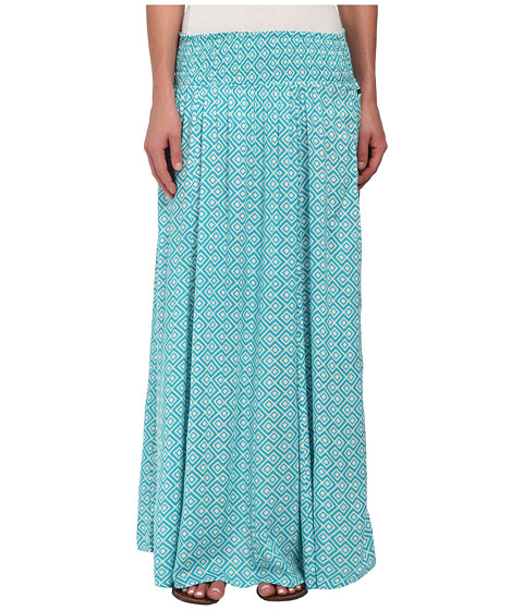 Roxy - Mixed Up Woven Maxi Skirt (Blatic Blue Diamond Zigs) Women