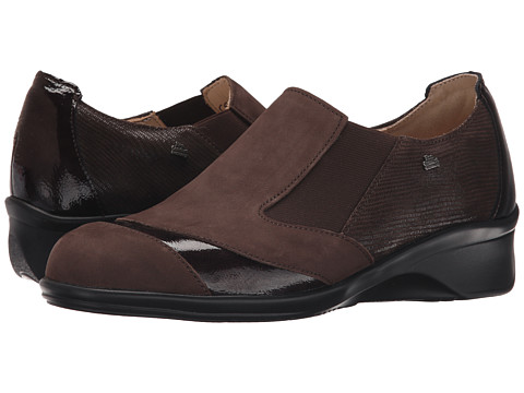 Finn Comfort - Edina (Chocolate Patagonia/Ebony Patent/Dark Brown Valencia) Women