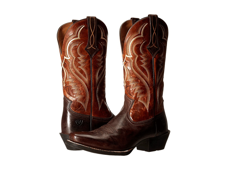 Ariat - Bronc Buster (Bitter Brown/Two-Tone Tan) Cowboy Boots